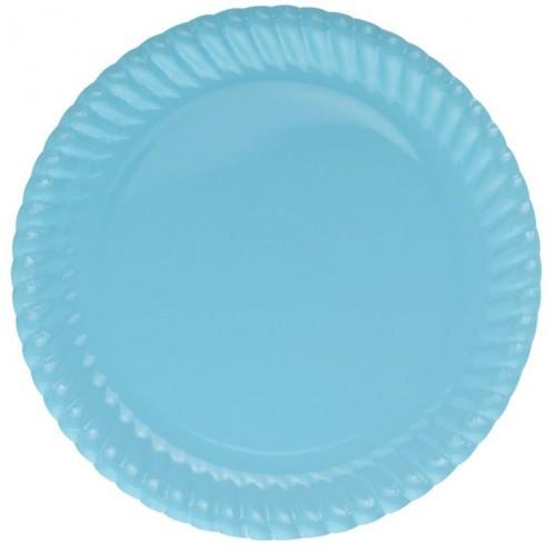 Parti Şöleni Mavi Karton Tabak 8 Adet
