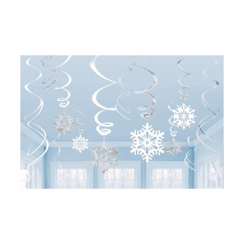 Kullanatmarket Kar Taneleri Süs Dalgası -12 Adet