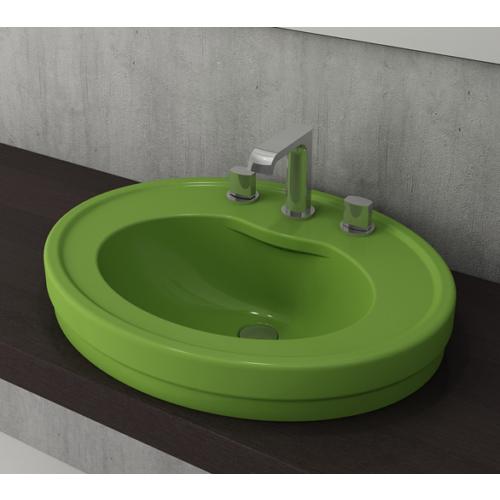 Bocchi Loreto Yarım Tezgah Lavabo Fıstık Yeşili