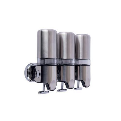 Bocchi Sıvı Sabunluk, Şampuanlık Üçlü, 3 X 450 Ml, Kilitli Krom