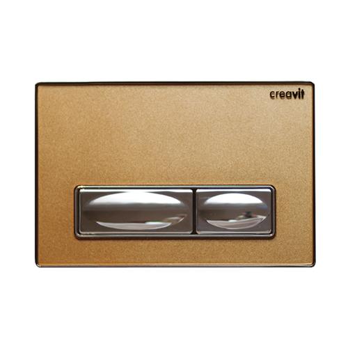 Creavit Design Altın Rengi Kumanda Paneli Solid Cam Metal