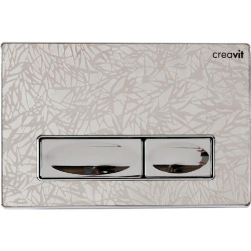 Creavit Design Metal Paslanmaz Kumanda Paneli Krom