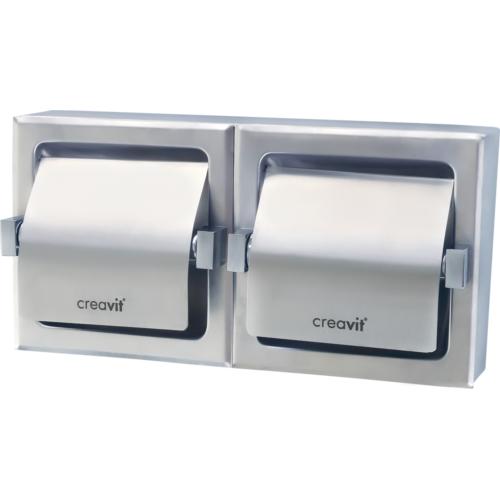 Creavit Paslanmaz Sıvaaltı İkili Tuvalet Kağıtlığı