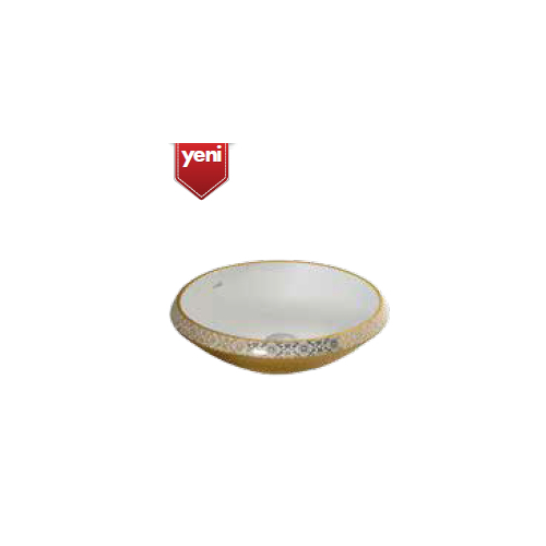 Creavit Damask Gold 45 Cm Setüstü Lavabo