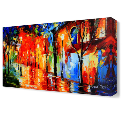 Dekor Sevgisi Sokak Lambalarının Sihiri Canvas Tablo 45x30 cm