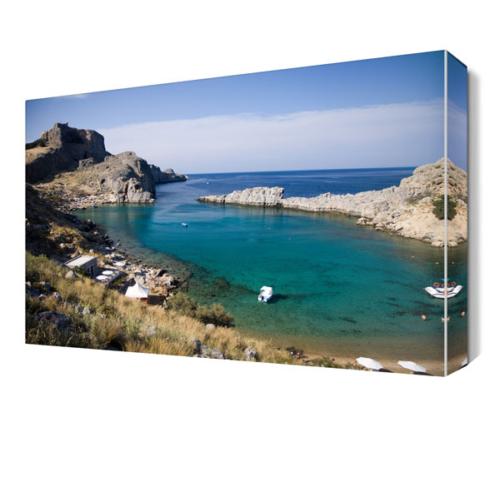 Dekor Sevgisi Deniz ve Kayalıklar2 Canvas Tablo 45x30 cm