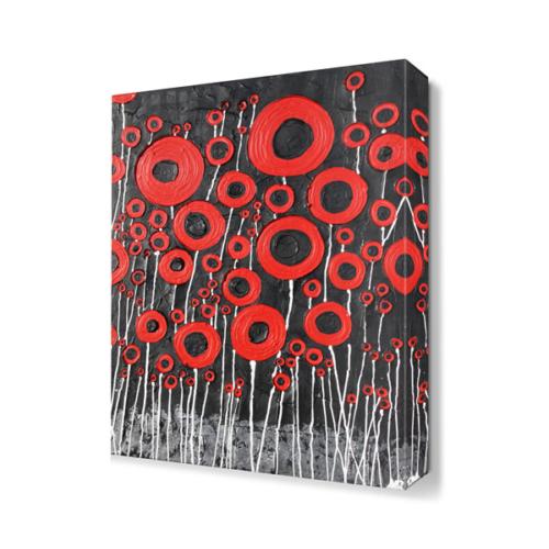 Dekor Sevgisi Çiçek Desenli Tablosu 45x30 cm