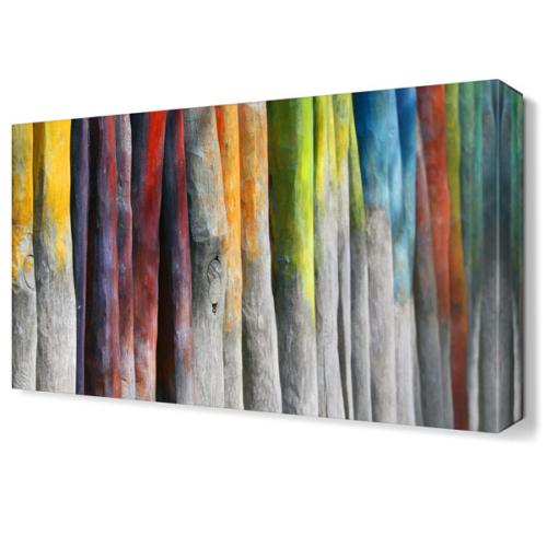 Dekor Sevgisi Renkli Çubuklar Tablosu 45x30 cm