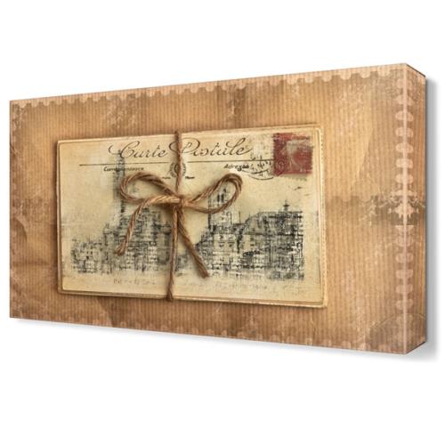 Dekor Sevgisi Kartpostal Tablosu 45x30 cm