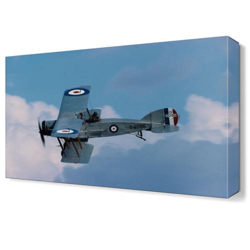 Dekor Sevgisi Fransız Avcı Uçağı Tablosu 45x30 cm