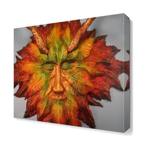 Dekor Sevgisi Yaprak Yüz Tablosu 40x40 cm