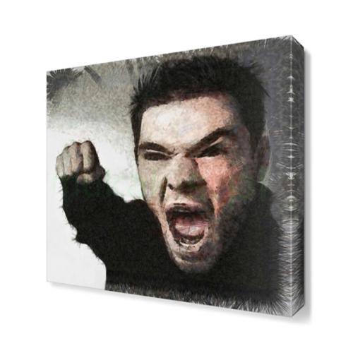 Dekor Sevgisi Bağıran Adam Tablosu 40x40 cm