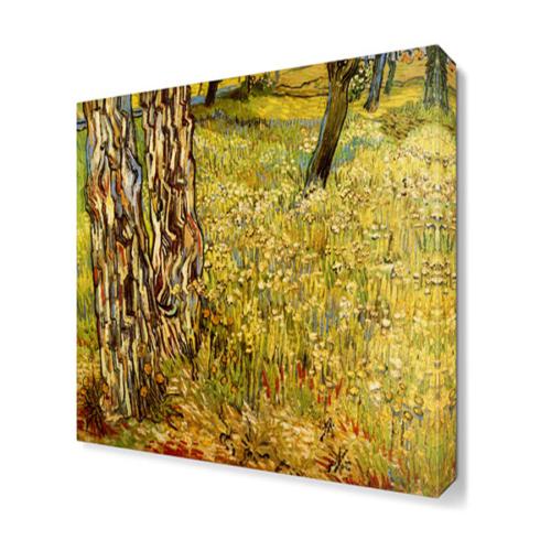 Dekor Sevgisi Sarı Çimler Tablosu 40x40 cm