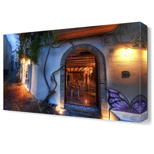 Dekor Sevgisi İspanya,Kapı Önleri Tablosu 45x30 cm