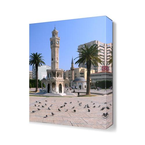 Dekor Sevgisi İzmir Saat Kulesi Tablosu 45x30 cm