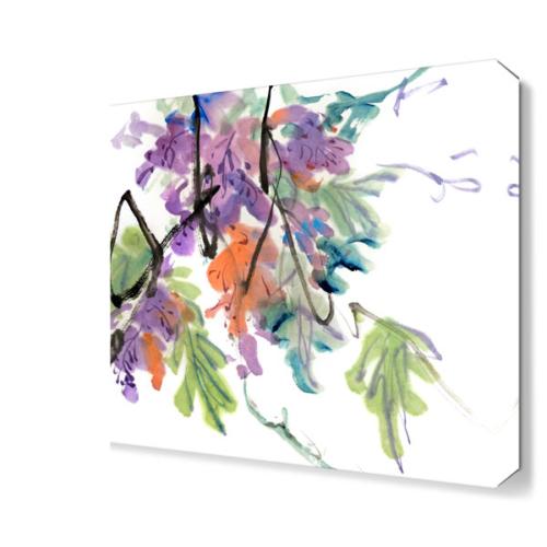 Dekor Sevgisi Dekoratif Yapraklar 2 Canvas Tablo 45x30 cm