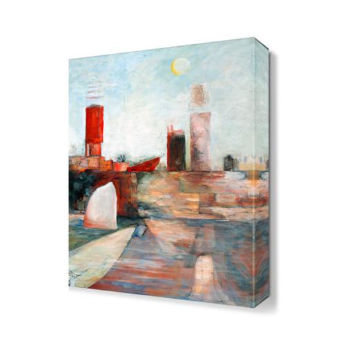 Dekor Sevgisi Liman Tablosu 45x30 cm