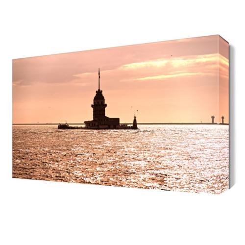 Dekor Sevgisi Gün Batışı Kız Kulesi Tablo 45x30 cm