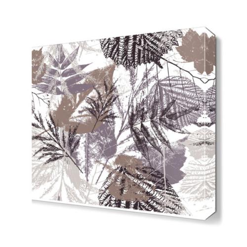 Dekor Sevgisi Kahverengi Yaprak Tablosu 40x40 cm