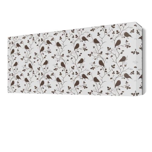 Dekor Sevgisi Küçük Kuş Desenleri Tablo 45x30 cm