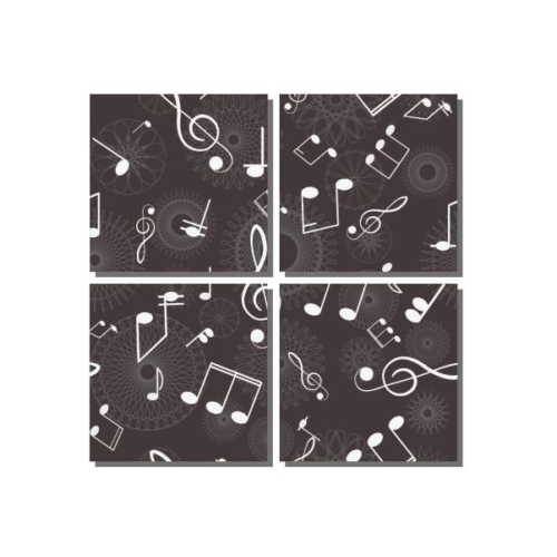Dekor Sevgisi Siyah Beyaz Notalar 85x85 cm