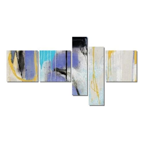 Dekor Sevgisi Mor Fırça İzleri Tablosu 90x170 cm