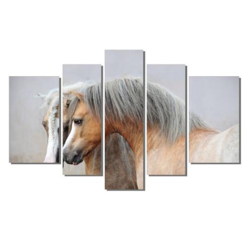 Dekor Sevgisi Sevimli Atlar 3 Tablo 84x135 cm