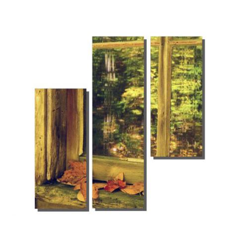 Dekor Sevgisi 3 Parçalı Pencere Önü Tablosu 100x100 cm
