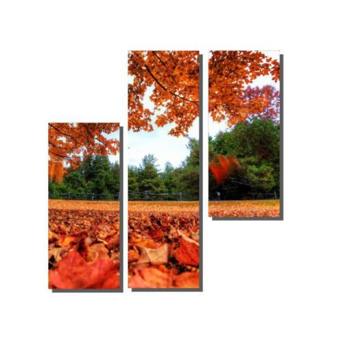 Dekor Sevgisi 3 Parçalı Sonbahar Tablosu 80x80 cm