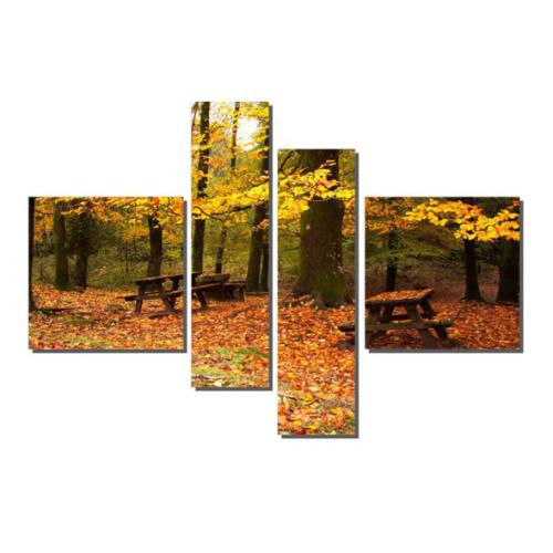 Dekor Sevgisi 4 Parçalı Piknik Alanı Tablosu 90x127 cm
