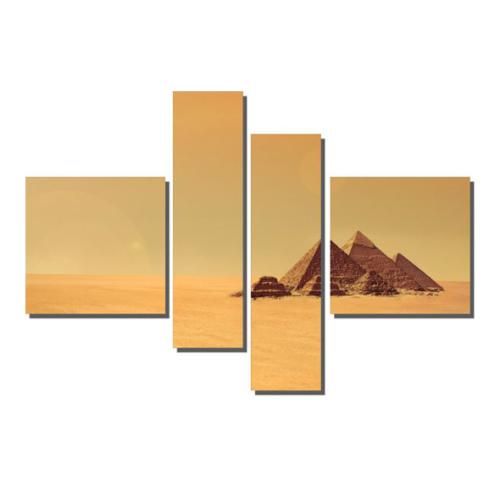 Dekor Sevgisi 4 Parçalı Mısır Piramitler Tablosu 90x127 cm