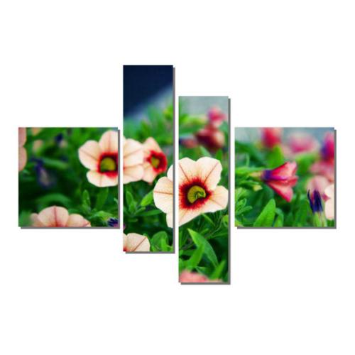 Dekor Sevgisi 4 Parçalı Çiçek Tablosu 90x127 cm