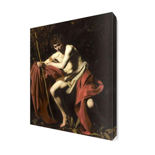 Dekor Sevgisi Kırmızılı Adam Canvas Tablo 45x30 cm