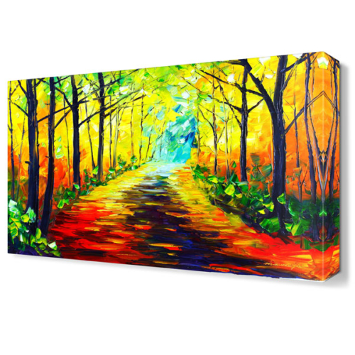 Dekor Sevgisi Eve Giden Patika Canvas Tablo 45x30 cm