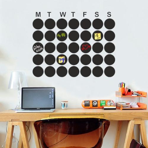 Decor Desing Aylık Program Yazılabilir Sticker Ys17