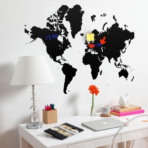Decor Desing Dünya Haritası Yazılabilir Sticker Ys80