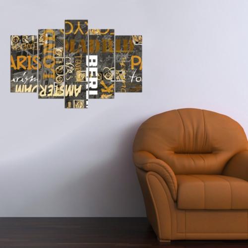 Decor Desing 5 Parçalı Dekoratif Tablo D5Tp108