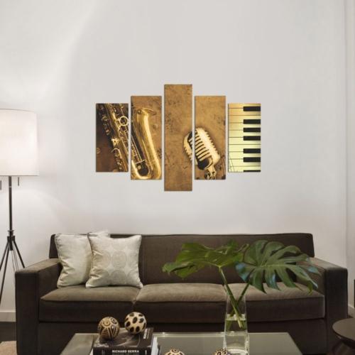 Decor Desing 5 Parçalı Dekoratif Tablo Dec033