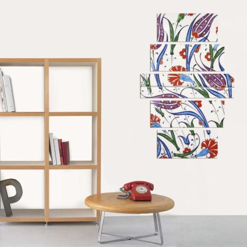 Decor Desing 5 Parçalı Dekoratif Tablo Dec040