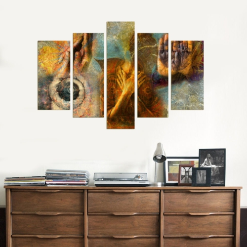 Decor Desing 5 Parçalı Dekoratif Tablo Dec060
