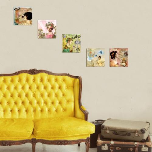 Decor Desing Dekoratif 5'li Tablo Utb14
