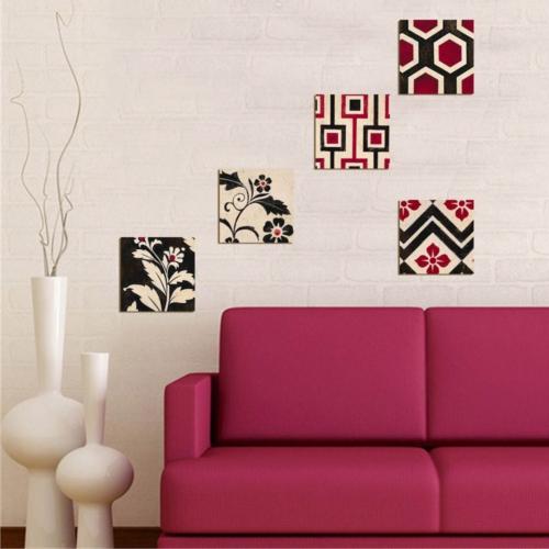 Decor Desing Dekoratif 5'li Tablo Utb106