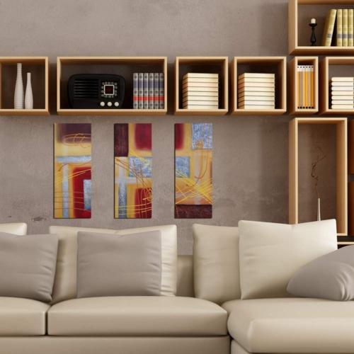 Decor Desing Dekoratif 3'lü Mdf Tablo Xtp151