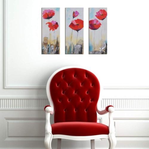 Decor Desing Dekoratif 3'lü Mdf Tablo Xtp153