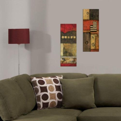 Decor Desing Dekoratif İki Li Mdf Tablo Xtp242