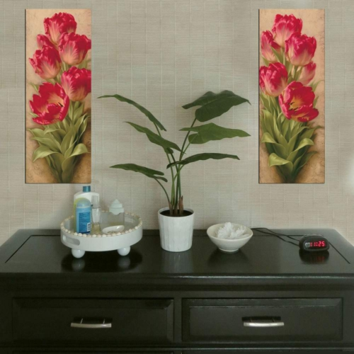 Decor Desing Dekoratif İki Li Mdf Tablo Xtp258