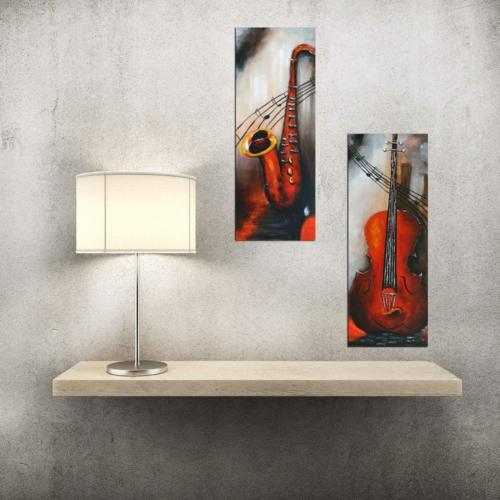 Decor Desing Dekoratif İki Li Mdf Tablo Xtp266
