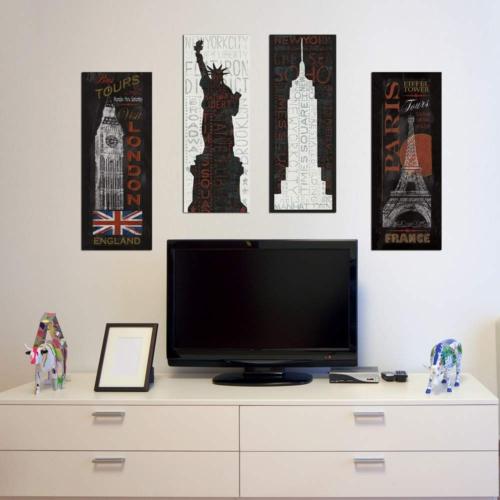 Decor Desing Dekoratif Dört Lü Mdf Tablo Xtp279