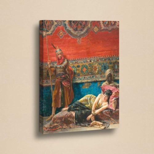 Decor Desing Etnik Desenli 50 X 70 Cm Ebatında Kanvas Tablo Chne206
