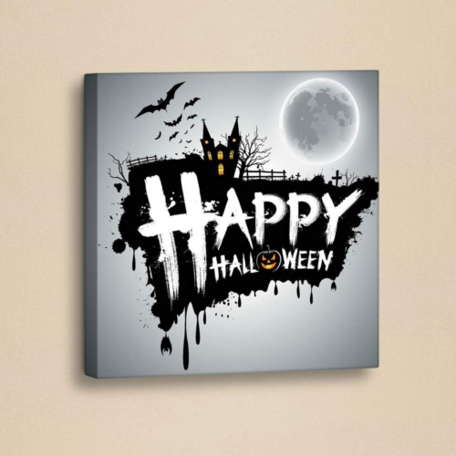 Decor Desing Halloween Kanvas Tablo Hl021